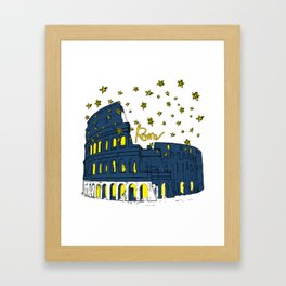 Rome Italy Colosseum Starry night Framed Art Print