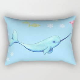 Narwhal Buddies Rectangular Pillow