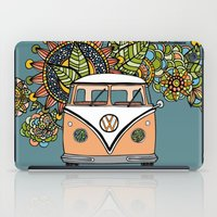 vw bus iPad Cases featuring VW bus by Woosah