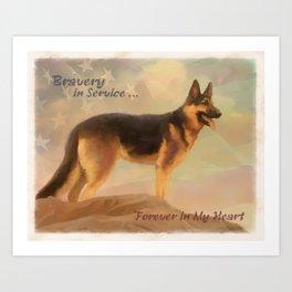 Bravery in Service Art Print
