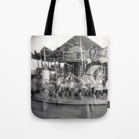 carousel Tote Bags featuring Carousel by Ibbanez