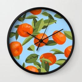 Good Luck Mandarin Oranges Wall Clock