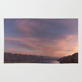 Sunset over Lake Wakatipu Rug