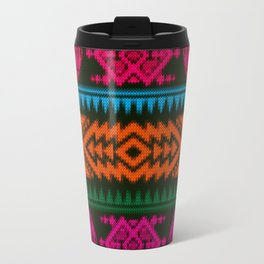 Ethnic Knitted pattern Travel Mug
