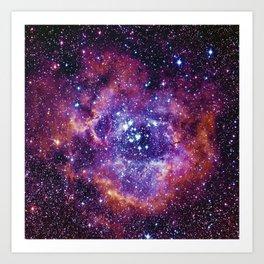 Rosette Nebula Art Print