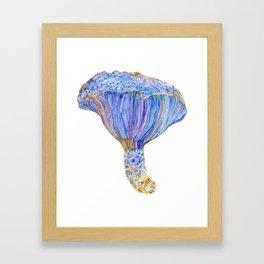 Indigo Milk Cap Mushroom Framed Art Print
