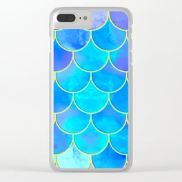 mermaid scale home design pattern Clear iPhone Case