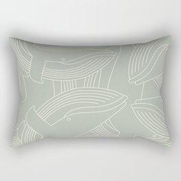 Minimalist Blue Whale Rectangular Pillow