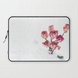 Rose in Snow Laptop Sleeve