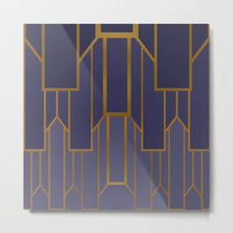 ART DECO G3 (abstract artdeco geometric) Metal Print