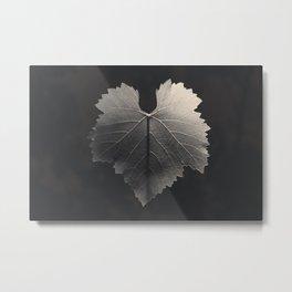 Grape Leaf Metal Print