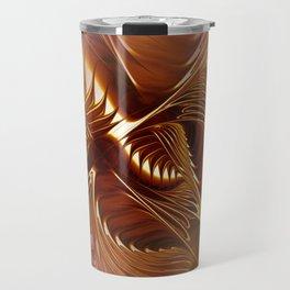 flames on texture -702- Travel Mug