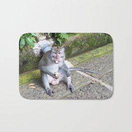 Crab-eating Macaque II (Balinese Monkey) Bath Mat
