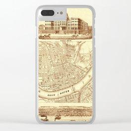Vintage Cincinnati Map 1850 Clear iPhone Case