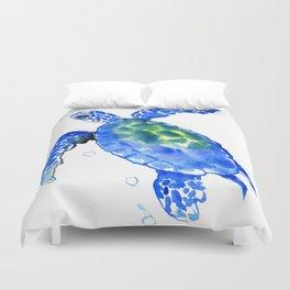 Blue Sea Turtle Duvet Cover