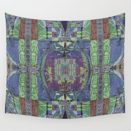 Geometric Futuristic Quilt 2: Calm Surrender Wall Tapestry