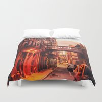 new york city Duvet Covers featuring New York City Alley by Vivienne Gucwa