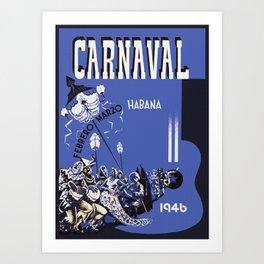Vintage Havana Cuba Carnival 1946 Art Print