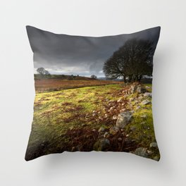 Approaching storm over Brecon, South Wales UK Throw Pillow