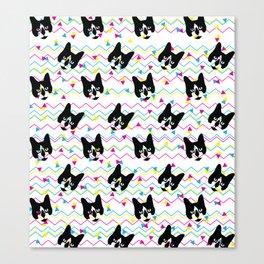CMYK Cat Pattern Canvas Print