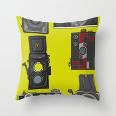 Cameras Throw Pillow