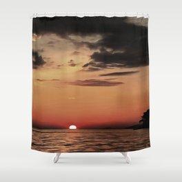 Autumn Evening Sundowner Shower Curtain
