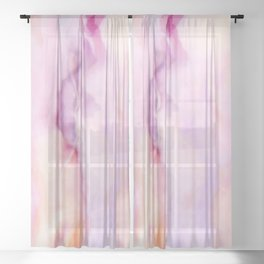 Rose and pink Marble texture Sheer Curtain
