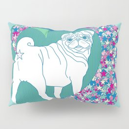 pug rainbow Pillow Sham