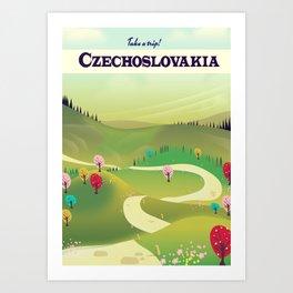 czechoslovakia travel poster Art Print
