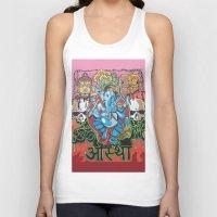 hindu Tank Tops featuring Hindu God by Vic Piano
