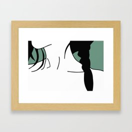 Pay Attention Framed Art Print