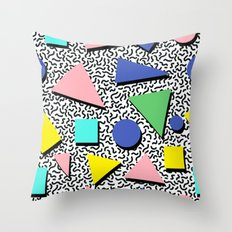 Memphis pattern 5 Throw Pillow