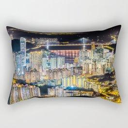 Hong Kong City View At Night Rectangular Pillow