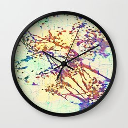 Abstract Flower Scratching Art Wall Clock