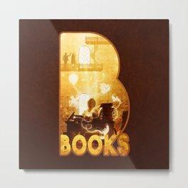 B for Books Metal Print