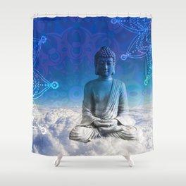 Mandala Floating Buddha Shower Curtain