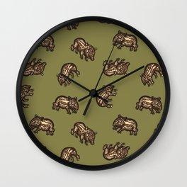 Baby Malayan tapir Wall Clock