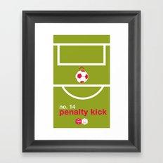 Penalty Kick (No.14) Framed Art Print