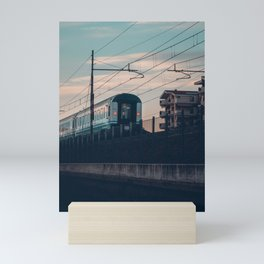 Sunset Train Street Photography Mini Art Print