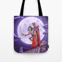 dracula Tote Bags featuring Dracula by cheesecake