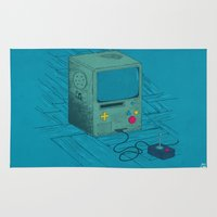 video game Area & Throw Rugs featuring Old Video Game Console by ellygeh | Elly Medeiros