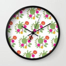 Floral Harmony Wall Clock
