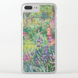 Claude Monet - The Artist's Garden in Giverny Clear iPhone Case