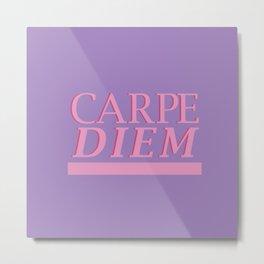 Carpe Diem purple Metal Print