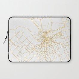 OTTAWA CANADA CITY STREET MAP ART Laptop Sleeve