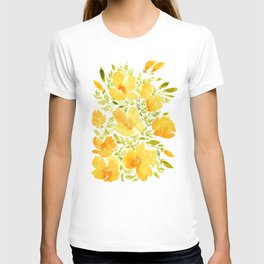 Watercolor California poppies (Quad set, #2) T-shirt