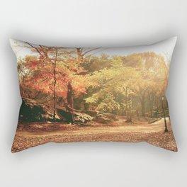 Autumn Sunlight - New York City Rectangular Pillow