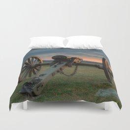 Gettysburg Cannon Sunset Duvet Cover