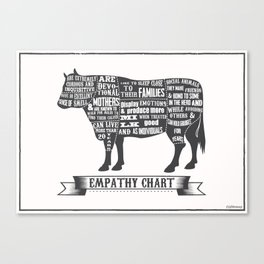 Empathy chart, cow Canvas Print