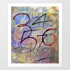 Days are numbers Art Print